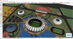 Sketchup Sport complex 112 3D Model