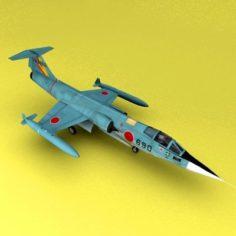 F-104 Starfighters 3D Model