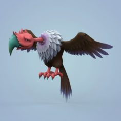 Fantasy Cartoon Vulture 3D Model