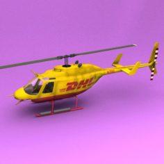 Bell 206 DHL 3D Model