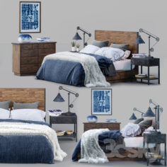 Big Daddy's Antiques Bed Set                                      3D Model