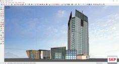 Sketchup Hotel H6 3D Model