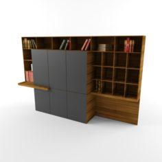 Aulenti-8-ft-office-table-veneer-finish 3D Model