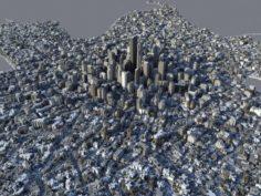 Large City 3D Model