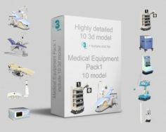 Medical Equipment Pack 1 —– 10 model with and without texture 3D Model