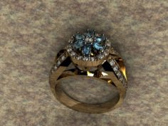 Ring with briliance 3D Model