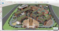 Sketchup school H2 3D Model