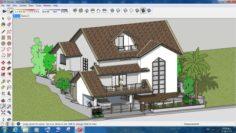 Villa sketchup – 10 3D Model