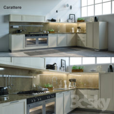Kitchen Scavolini Carattere                                      3D Model