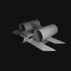 Cartoon Fantasy Spaceship 3D Model