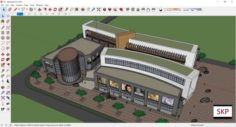 Sketchup shopping mall C6 3D Model