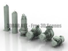 Equipments HVAC EBARA 02 3D Collection