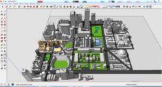 City 3d sketchup – 7 3D Model