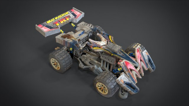 Beat Magnum TRF with interior and detail machine Hot Rod Mode 3D Model