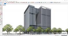 Sketchup office building K2 3D Model