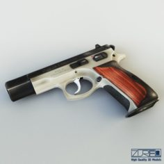 CZ 75 Low Poly v 1 3D Model