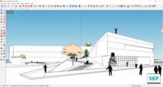 Sketchup Cultural center H1 3D Model
