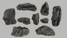 Cliff rocks 3D Model