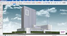 Sketchup office building G7 3D Model