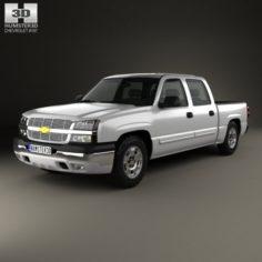 Chevrolet Silverado 1500 Crew Cab Short Bed 2002 3D Model
