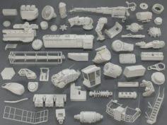 Kit bash53 pieces – collection-14 3D Model