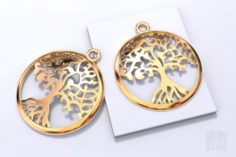 Tree pendants Yggdrasil tree of life 3D Model