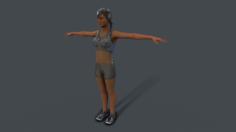 Fitness girl 3D Model