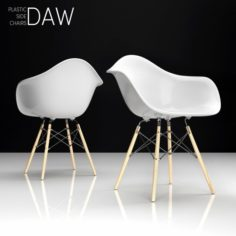 Eames DAW plastic side chair 3D Model