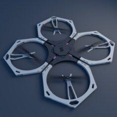 Gray drone 3D Model