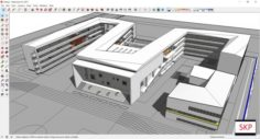 Sketchup school H8 3D Model
