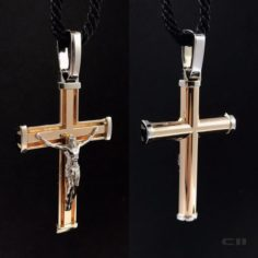 Christian gold cross 3D Model