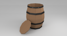 Barrel Prop Lowpoly 3D Model