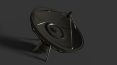 Large Satellite Dish Free 3D Model