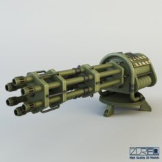 Machine gun CIZ 3D Model