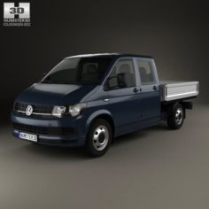 Volkswagen Transporter T6 Double Cab Pickup 2016 3D Model