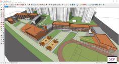 Sketchup school H4 3D Model