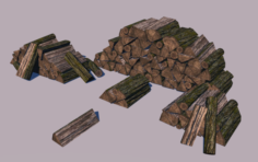 Fire woods 3D Model