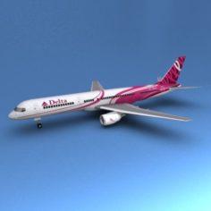 Boeing 757 Delta 3D Model