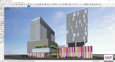 Sketchup Commercial and office complex L7 3D Model