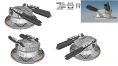 Starship troopers cannon 3D Model