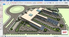 Sketchup bus terminal C3 3D Model