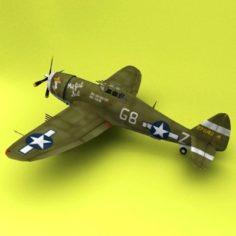 P-47 thunderbolt 3D Model