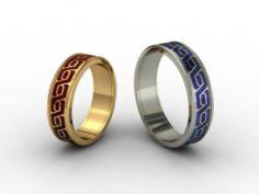 Wedding rings 3D-N- 004 3D Model