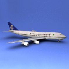 Boeing 747 Saudi Arabian 3D Model