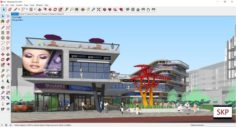 Sketchup shopping mall C8 3D Model