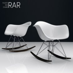 Eames RAR plastic side chairs 3D Model