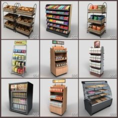 Package of Shelf Dairy food shop – 19 model 3D Model