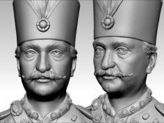 King of iran – naser al din shaah qaajaar 3D Model