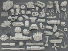 Kit bash54 pieces – collection-17 3D Model