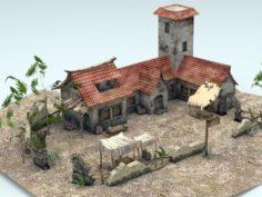 Asian Farmhouse 3D Model